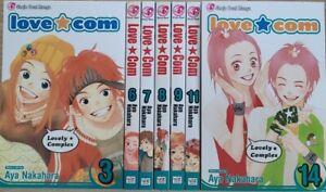 Love Com 3,6-9,11,14, English Manga Graphic Novels New Shojo 7 Volume lot
