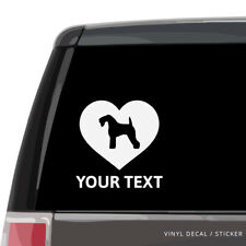 Kerry Blue Terrier Silhouette Heart Car Window Decal - Vinyl Sticker, wall dog