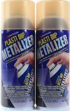 2 Performix Plasti Dip 11Oz Metalizer Gold Metallic Finish Spray On Plasti Items