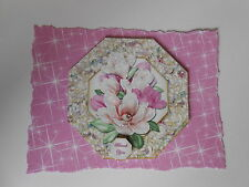 PK 2 MAGNOLIA BOUQUET*THANK YOU* EMBELLISHMENT TOPPERS FOR CARDS & CRAFT
