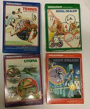 4 NUEVO PRECINTADO LOTE Intellivision Juegos Royal DEALER Utopia Tenis NIGHT