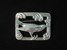 Silver Pewter 'ART DECO Mockingbird' Pin