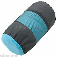 "Turquoise 50 Degree Fleece Sleeping Bag 32"" x 75"" Camping Emergency Survival Kit"