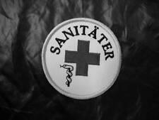 Sanitäter Rundemblem Emblem  Aufnäher  2. Variante