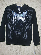 "Boy's ""Tap Out"" Tapout Signature Zip-Up Hoodie Jacket (Black) Size Med  10/12"