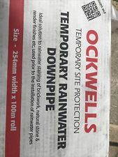 Ockwells Temporary Rainwater Downpipe 254mm X 100m Roll £25 Delivered