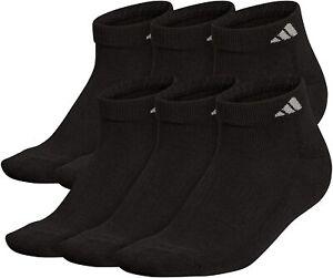 Adidas Cushioned Low Cut Socks Shoe Size 12-15 Black
