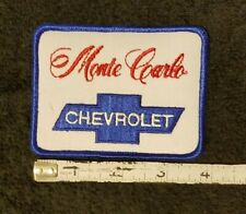 VTG 1980s CHEVY SS MONTE CARLO SEW ON PATCH RACING Hot Rod 396 454 383 STROKER