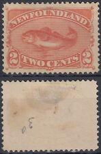 Newfoundland 1887 o.G. Mi.37, Fische Fish Kabeljau Codfish [sq7502]
