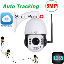 5MP Wireless Auto tracking IP Camera 20x Zoom PTZ Speed Outdoor WiFi p2p + SD DE