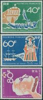 French Polynesia 1968 Sc#C45-C47,SG81-83 Discovery of Tahiti set MNH