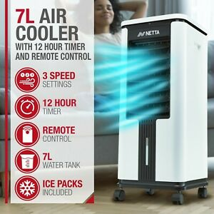 Electric Portable Air Cooler With Remote 7L Tank Grade B Used
