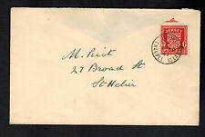 1941 Jersey Channel Islands Occupation Cover England Local Use to St Heliers