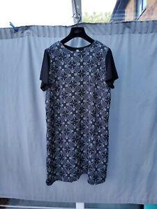 Next maternity Black Viscose Midi Dress UK 16 VGC