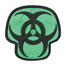 Maxpedition Glow-in-the-Dark Biohazard Skull PVC Morale Patch