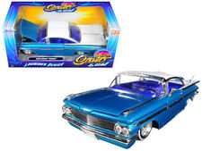 1/24 Jada 1959 Chevrolet Impala Lowrider Series Street Low White Top Blue 98923