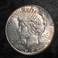 1922-S Peace Silver Dollar - Nice Uncirculated - High Quality Scans #E406