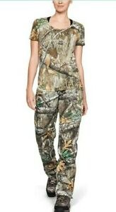 Under Armour Womens Realtree Edge Brow Tine Hunting Pants Size-6 1316698-991