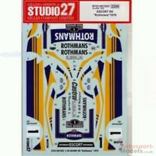 1/24 1979 Rothmans Ford RS Escort Mk.II Waldegard / Thorzelius Studio 27 decal