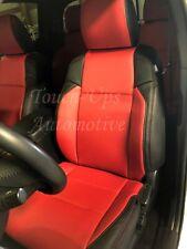 2016 2021 Toyota Tacoma Double Cab Sr5 Trd Katzkin Black Red Leather Seat Cover