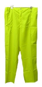 Men's High Visibility Safety Yellow 2XL EMT Construction Polyester Pants New