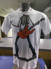 Mens Licensed Mad Engine Skeleton Rock Star Shirt New M