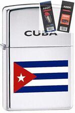 Zippo 250 cuban flag Lighter with *FLINT & WICK GIFT SET*