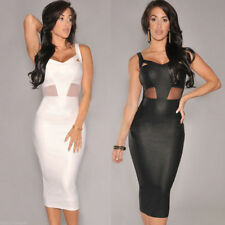Polyester V Neck Plus Size Sleeveless Dresses for Women