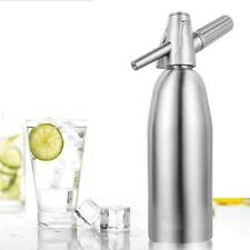 Professional Soda Siphon and Seltzer Water Maker 1 Pint/1L with Illustrated Book
