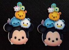 2 x Disney Tsum Tsums  Planar Flatback Resin Flat Back Hair Bow Resins Mickey