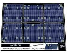 Precut Custom Replacement Sticker voor Lego Set 21101 - Hayabusa (2012)
