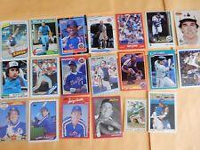 GARY CARTER baseball card lot (20) Montreal Expos, New York Mets, SF Giants