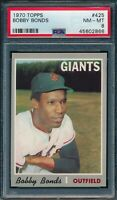 1970 Topps Set Break # 425 Bobby Bonds PSA 8 *OBGcards*