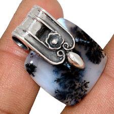 Owl - Merlinite Dendritic Opal - Turkey 925 Silver Pendant Jewelry AP163731 161W