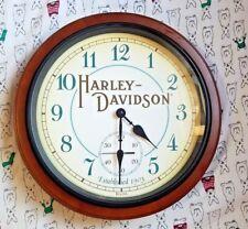 Harley Davidson Wall Clock Bulova Man Cave Hanging Vintage Harley Motorcycle