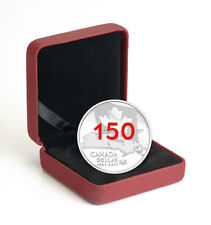 2017 Canada 150th - Our Home & Native Land 3/4 oz Silver Enameled OGP