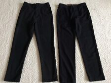 Boys slim  black school trousers, age 13, from Next.