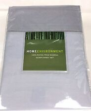 True Gray QUEEN 100% BAMBOO Silky Twill Sheet Set Home Environment Solid 4Pc New