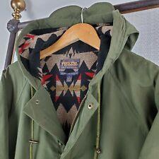 PENDLETON PORTLAND USA Large Aztec Southwest Wool Lined Olive Field Jacket Coat