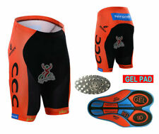XSU081 Road Men Team Bicycle Cycling Polyester GEL Padded Shorts