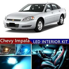 10 pcs LED ICE Blue Light Interior Package Kit for Chevy Impala 2006-2013