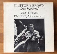 Clifford Brown ~ Jazz Immortal - Zoot Sims Pacific Jazz 1960   PJ3