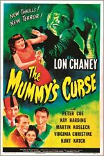 vintage horror film poster THE MUMMY'S CURSE terror THRILLS spooky 24X36 NEW
