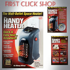 Handy Heater Plug-In THE WALL OUTLET SPACE HEATER 350 WATTS Garage Bathroom Home