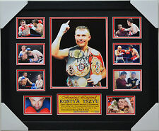 KOSTYA TSZYU SIGNED AND  FRAMED MEMORABILIA