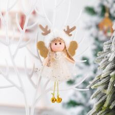 Christmas Gold Snowflake Lace Angel Xmas Tree Hanging Decoration Ornaments NEW