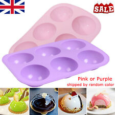 Large Half Ball Semi Sphere Silicone Cake Mold Muffin Chocolate Baking Mould UK