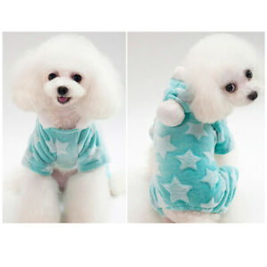 Cute Soft Pet Dog Jumpsuit Warm Winter Puppy Coat Fleece Pyjama Sleepwear Hot