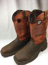 Durango Rebel DWDB037 Leather Square Toe Western Work Cowboy Boots 13W