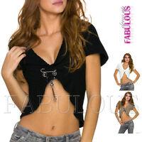 New Women's Short Cardigan Bolero Knit Top Jumper Jacket Size 6 8 10 XS S M